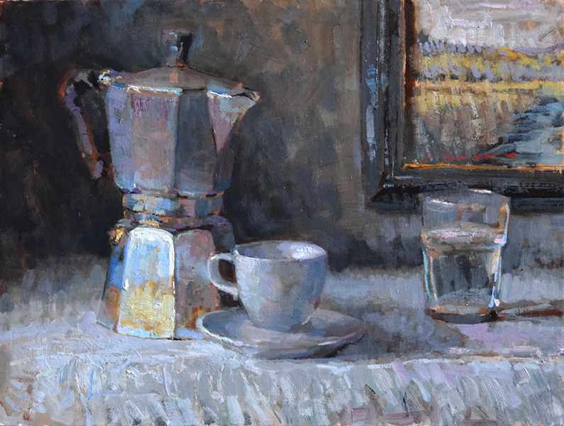'Breakfast', 12 x 16, Oil on Panel, SMG ID #927