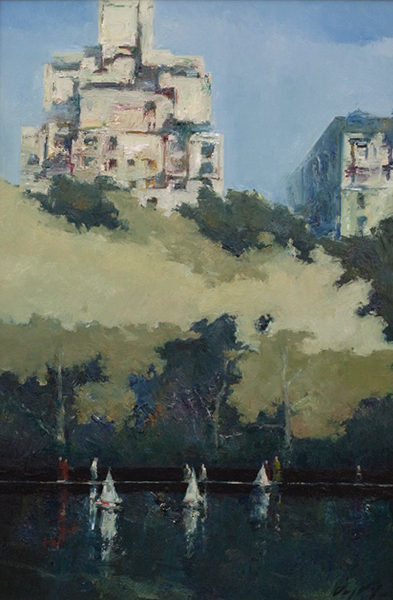 'Central Park Sail', 36 x 24, Oil on Panel, SOLD