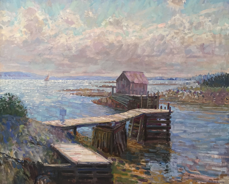 'Blue Rocks, Slack Tide', 35 x 43, Oil on Linen, SMG ID #842