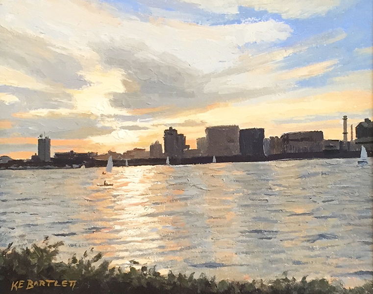 'Charles River Sunset', 8 x 10, Oil on Linen, SMG ID #823
