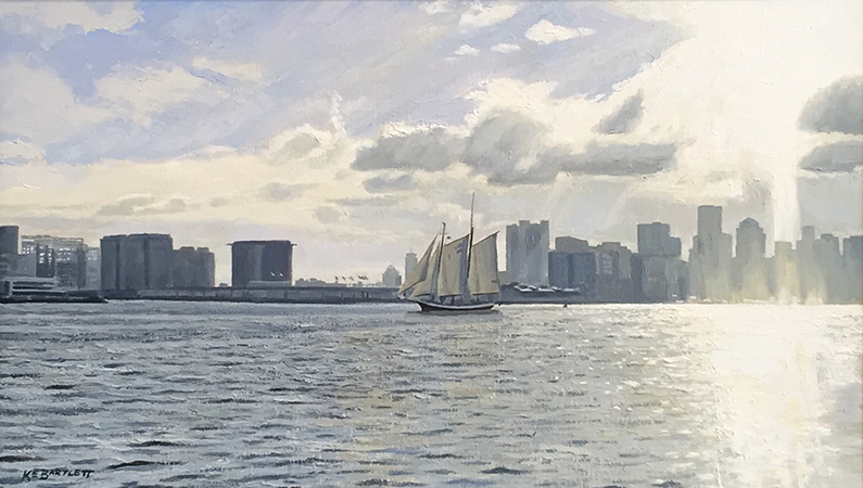 'Late Afternoon, Boston Harbor', 14 x 24, Oil on Linen, SOLD