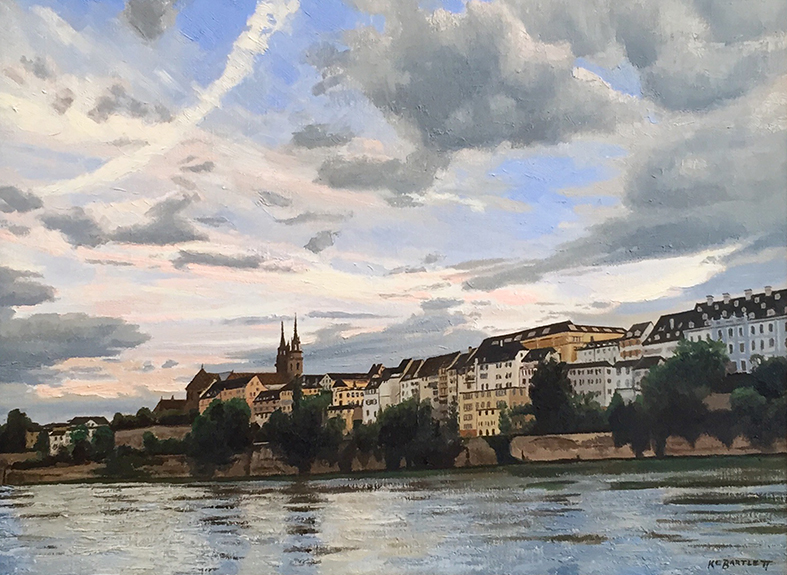 'On the Rhine', 18 x 24, Oil on Linen, SMG ID #818
