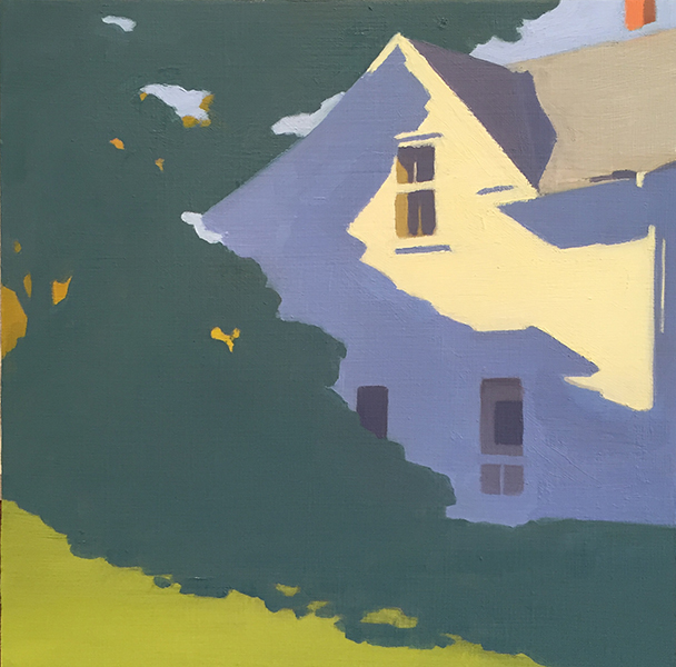 'Farmhouse', 12 x 12, Oil on Panel, SMG ID #1075