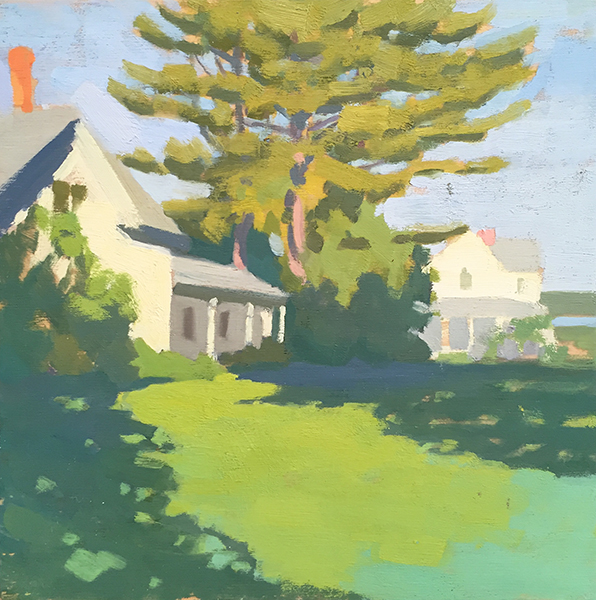 'Late Summer in Maine', 10 x 10, Oil on Panel, SMG ID #1052