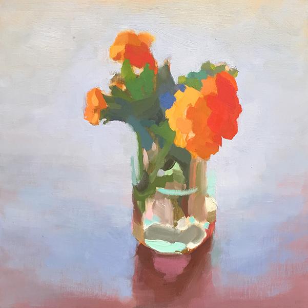 'Nasturtiums', 10 x 10, Oil on Panel, SMG ID #1051