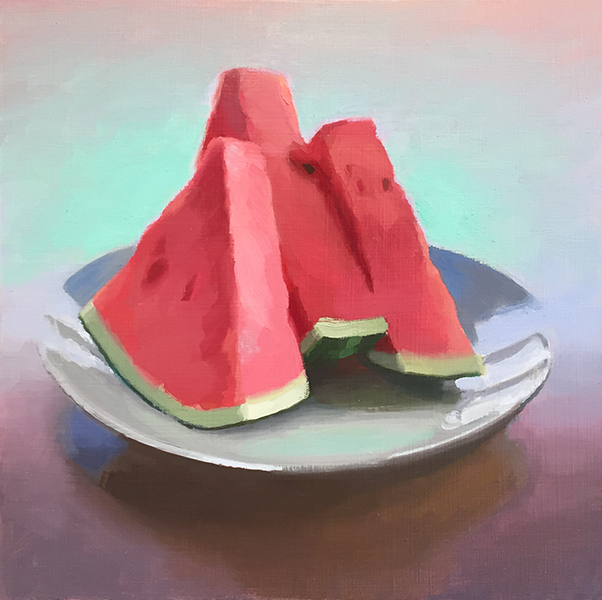 'Watermelon', 12 x 12, Oil on Panel, SOLD