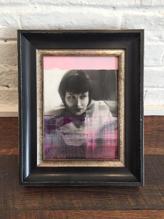 'Minx in Pink' Framed