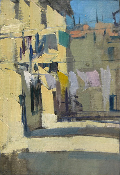 'Zitelle Laundry', 14 x 9, Oil on Linen, SMG ID #1250
