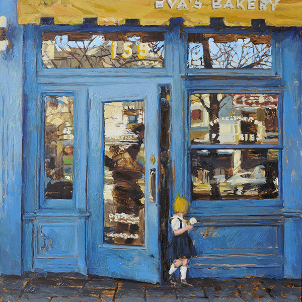 'Blue Shop Study', 12 x 12, Oil on Panel, SOLD