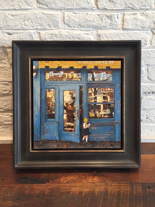 'Blue Shop Study' 12 x 12 Framed, SOLD