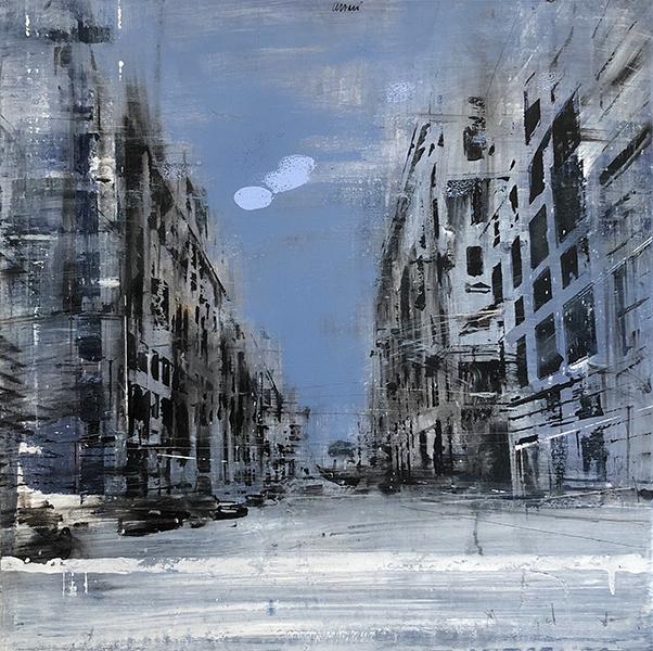 'Big Cloud', 20 x 20, Oil on Canvas, SMG ID #