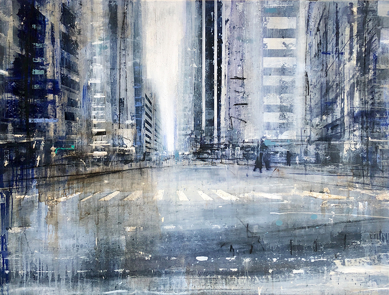 'Early Morning in NY', 36 x 48, Oil on Canvas, SMG ID #