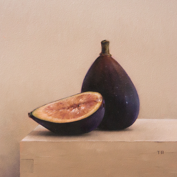 Tony Bevilacqua, 'Black Figs', 6 x 6, Oil on Panel