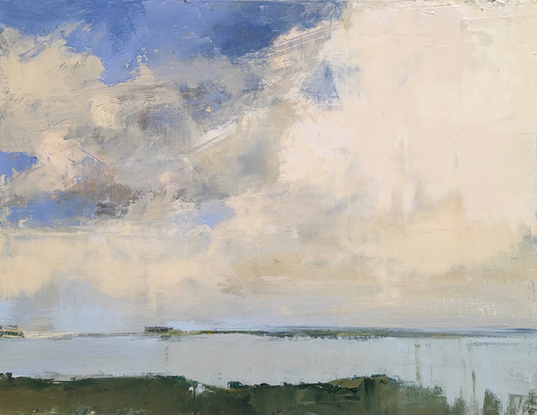 'Squibnocket Sky', 10 x 13, Oil on Panel, SOLD
