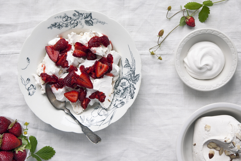 Eton Mess.  Made with fresh strawberries, whipped cream, and Coyle's Bakeshop's Vanilla Meringues.