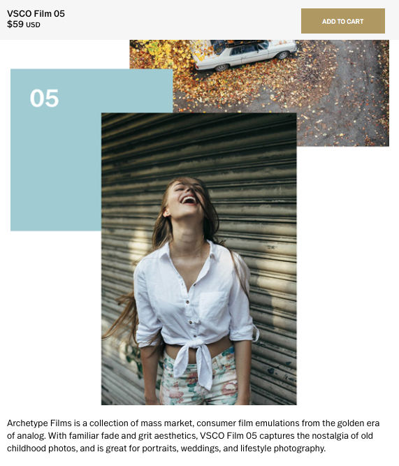 Feature on  VSCO  as a sample image for their Archetype Film Collection