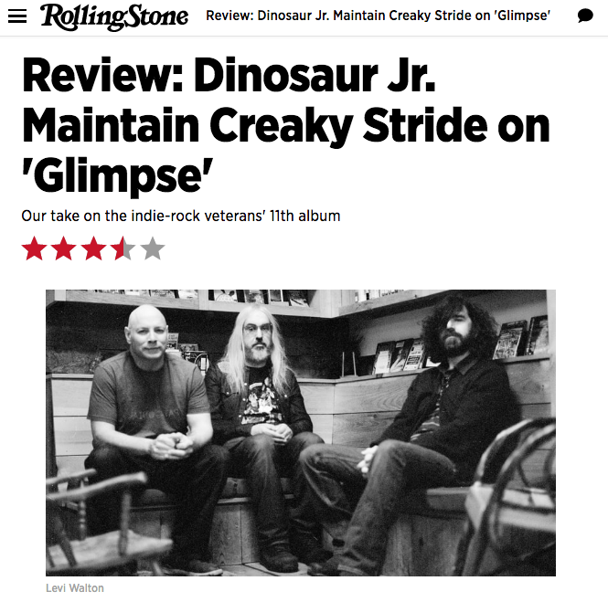 Press Photography for Dinosaur Jr, published on  Rolling Stone Magazine