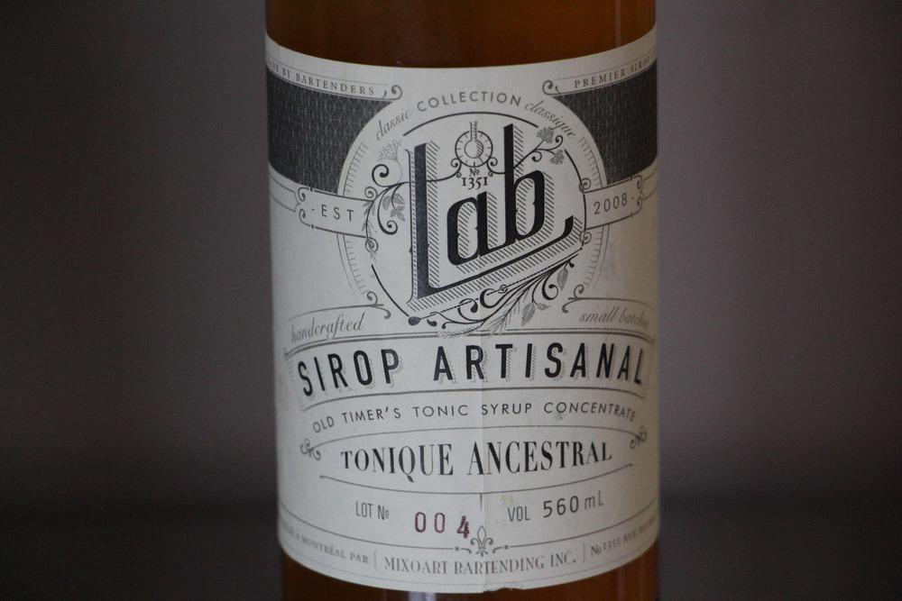 Sirop Artisanal Tonique Ancestral Le Lab.