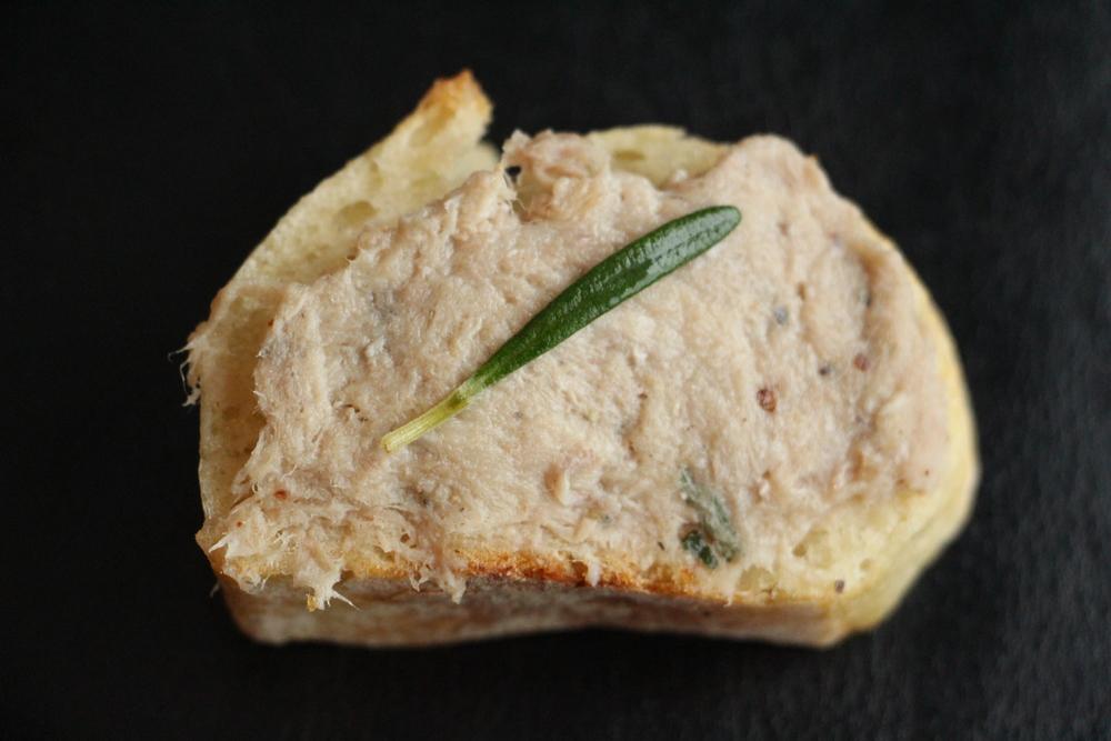 riettes sur pain baguette