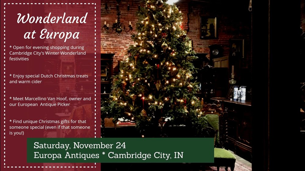 Winter wonderland at Europa Antiques