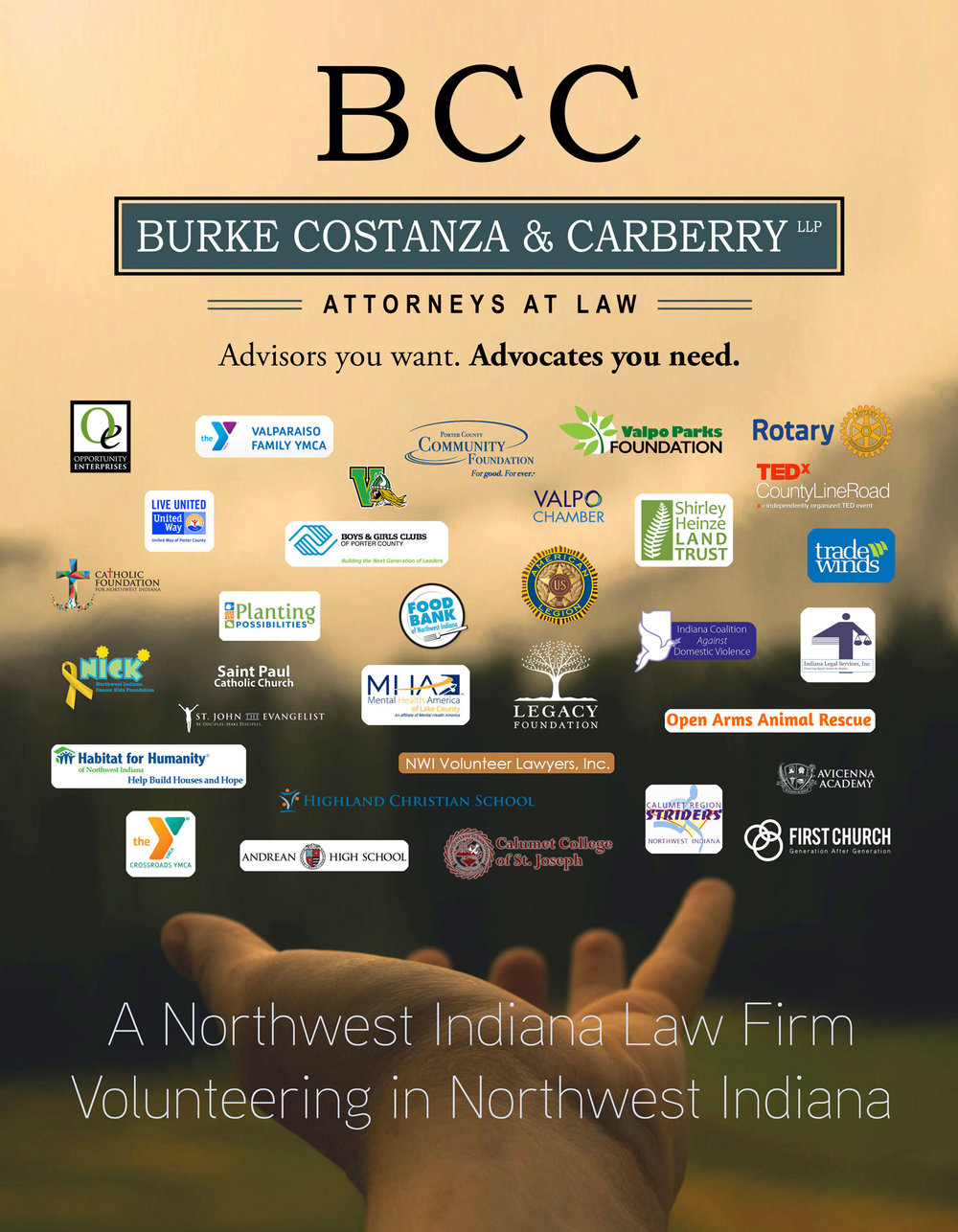 Organizations in which Burke Costanza & Carberry LLP's partners, associates, and staff have volunteered over the last year.