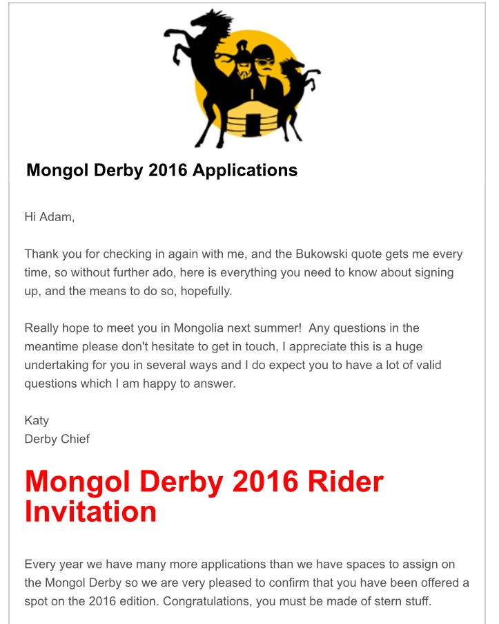Derby Invitation