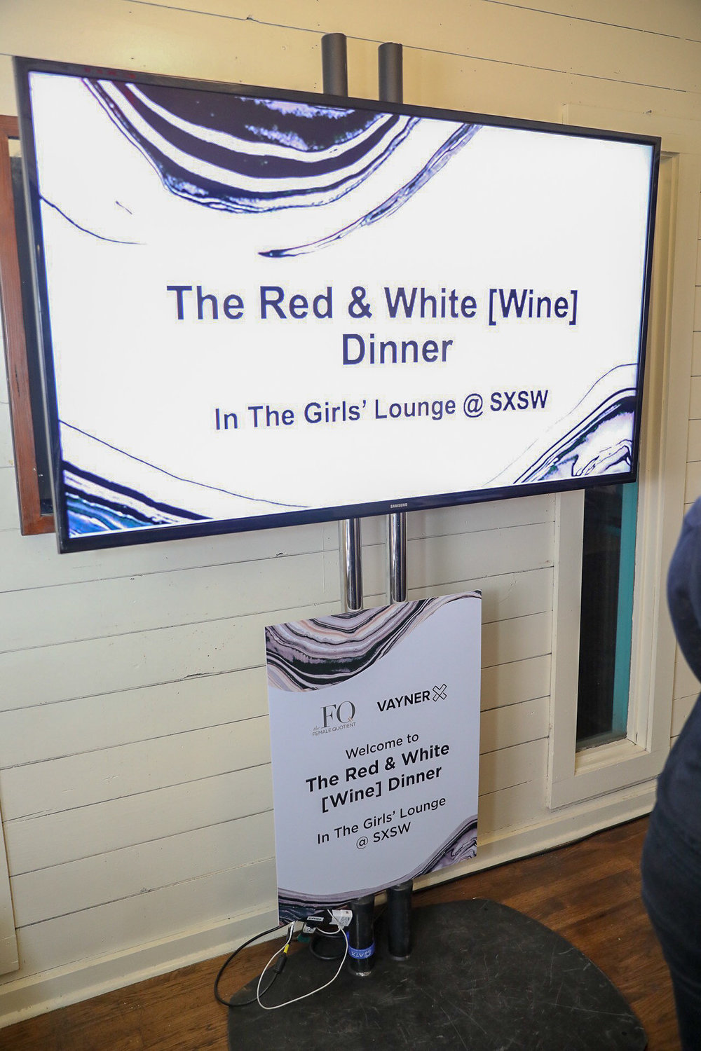 Signage for a dinner for SXSW 2018