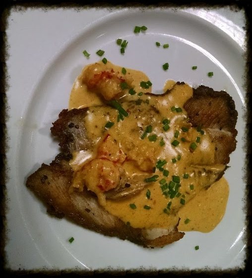 Flounder w/ Crayfish Cream Sauce