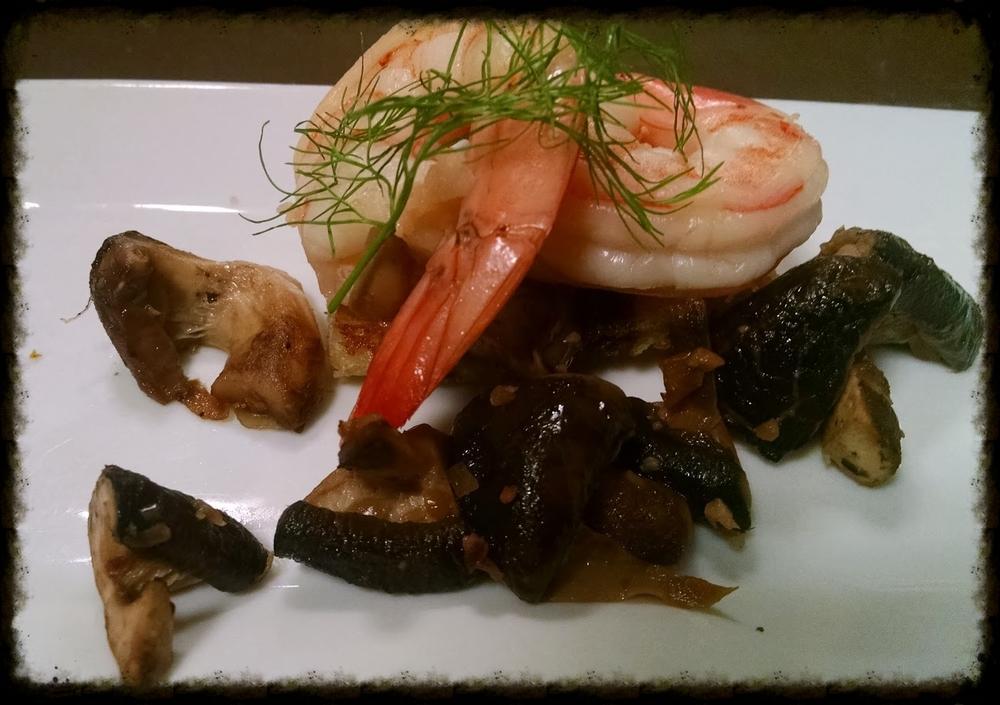 Shitake- Shrimp Salad