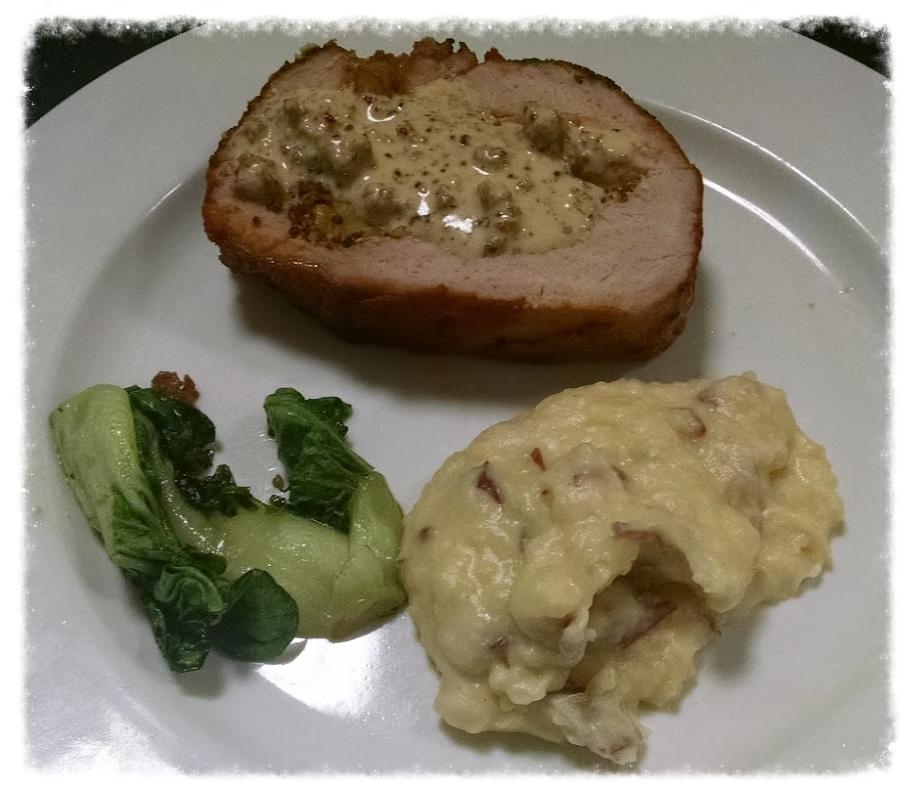 Pork Roulade w/ Mustard Cream Sauce