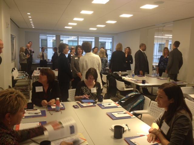 Networking before meeting began!