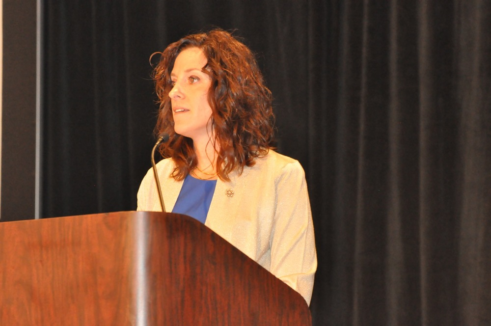 "Jess keynoting at the Southern Obesity Summit, held in October 2014 in Louisville. Her keynote, ""Do Something Extraordinary"" took participants through a journey of 6 lessons learned on Jess' solo bicycle trip across the US and how those lessons related to being a health champion."