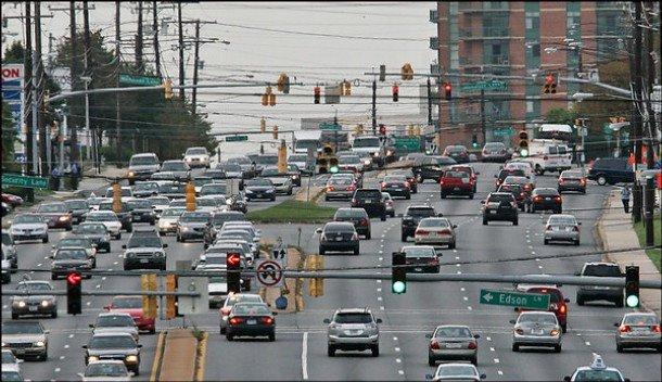 Typical Rockville Pike. - paulaspicturewindow