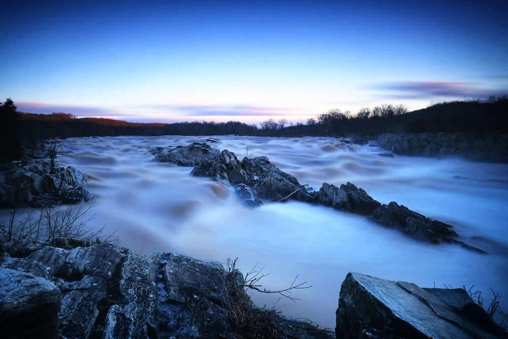 Great Falls National Park. ISO 200, f11, 120 seconds at 18mm.
