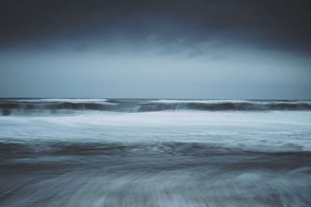 EXIF: ISO 200, f11, 3.2 seconds @ 35mm. Filters: Big Stopper + .45 Hard Grad ND on sky. Windy & gloomy afternoon on the ocean.