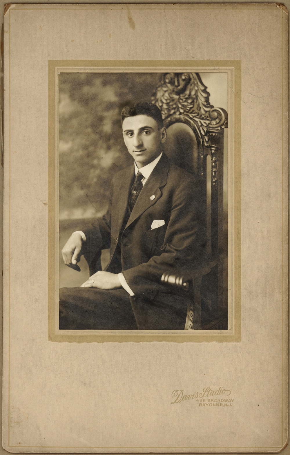 ~1907 New York City Joseph Acquiste [my great grandfather] as a young man.