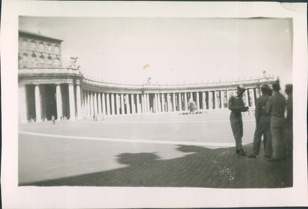 1944. Saint Peters Square, Rome, Italy.