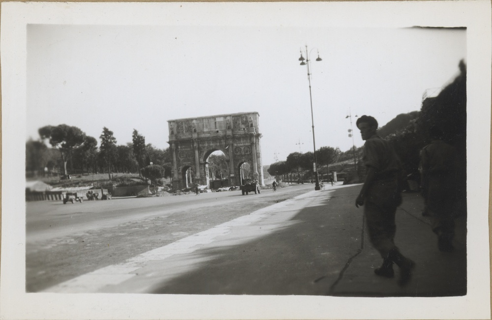 1944. Constantine's Arch, Rome, Italy.