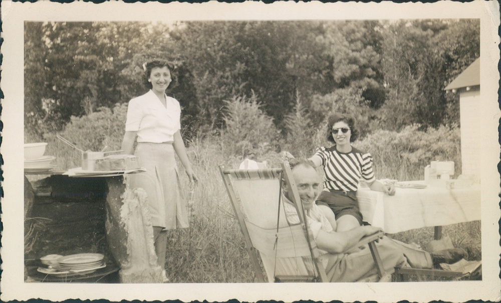 Late 1940s Rosalie [my grandmother], father William [Joe], and friend.