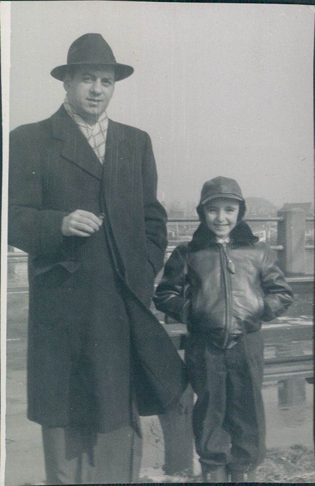 ~1957 Ernest Carbone and son Ernie Jr.