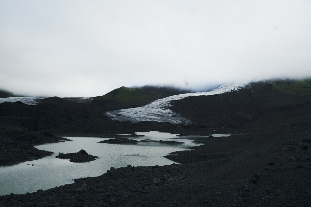 "This was the point when Eiran said, ""we used to park here and step onto the glacier.""   Fuji: f6.4 @ 18mm, 1/640, ISO1000"