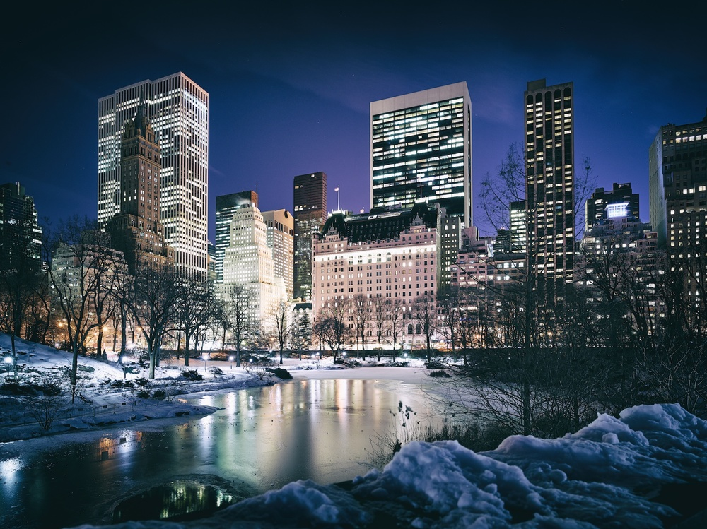 A cold night in Central Park.