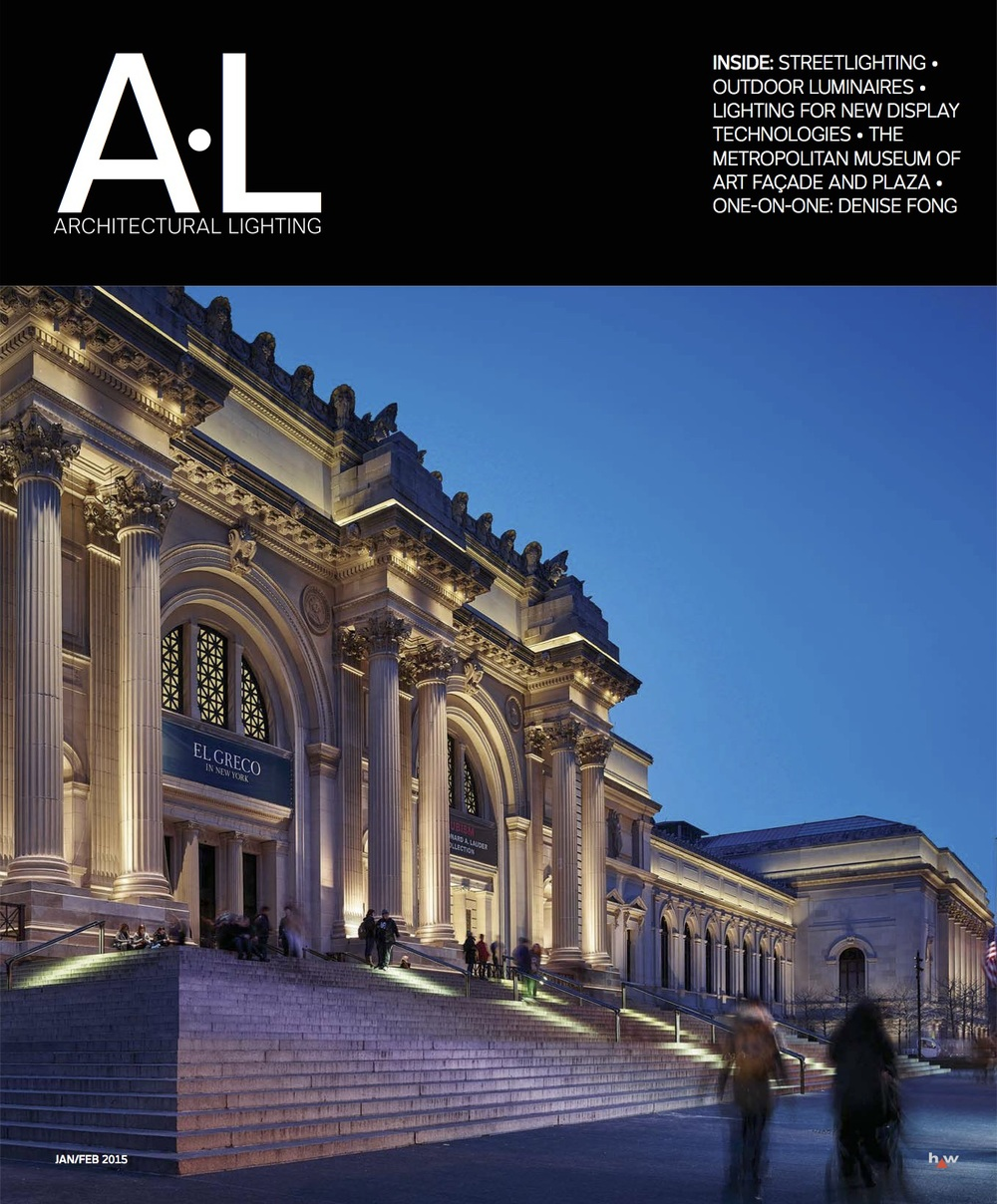 Jan/Feb 2015 cover of Architectural Lighting. Photo: Matthew Carbone
