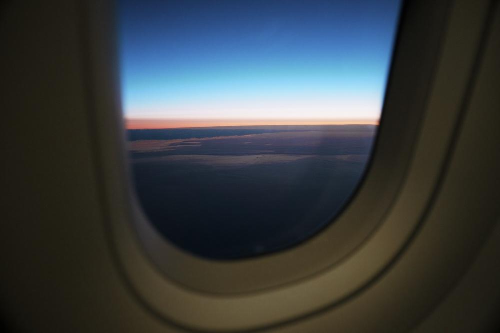Sunrise over Greenland.