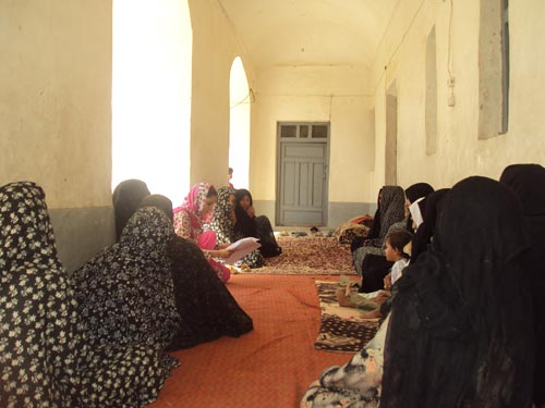 Illiterate women participate in Threads of Change Training in Farah province.