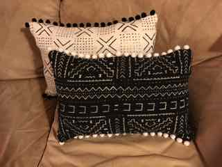 rectangular and square pillows