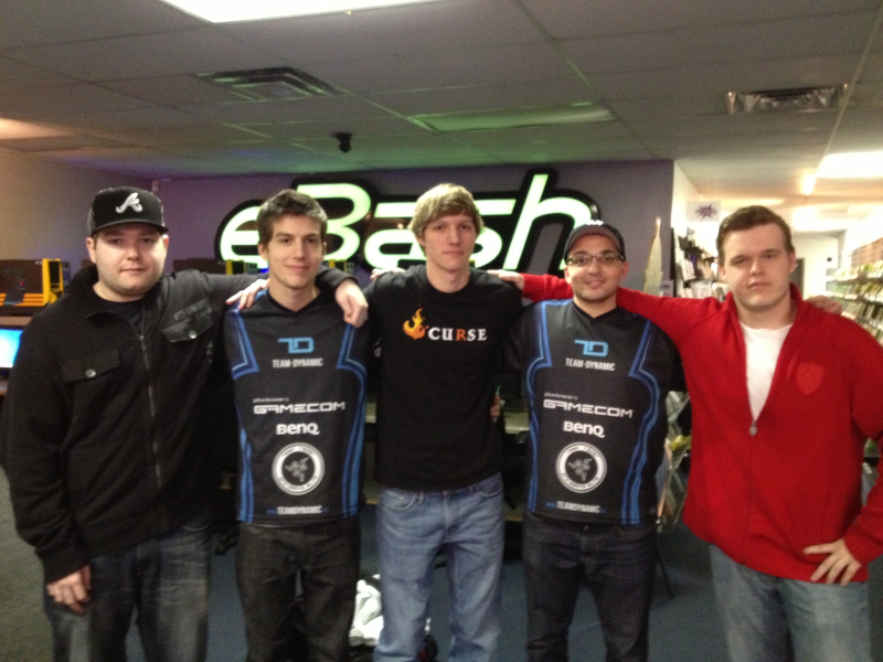 "RyuLAN 2013 Winners - ""Cursenamic"" Left to right: Anger, adreN, Skadoodle, Volcano, Stan"