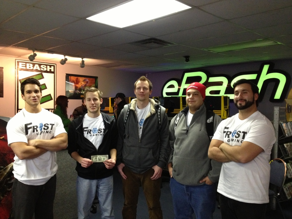 RyuLAN 2013 Second Place - Frost Gaming (Zomblers) Left to right: Freakazoid, ry9n, heatwave, classified, mOE