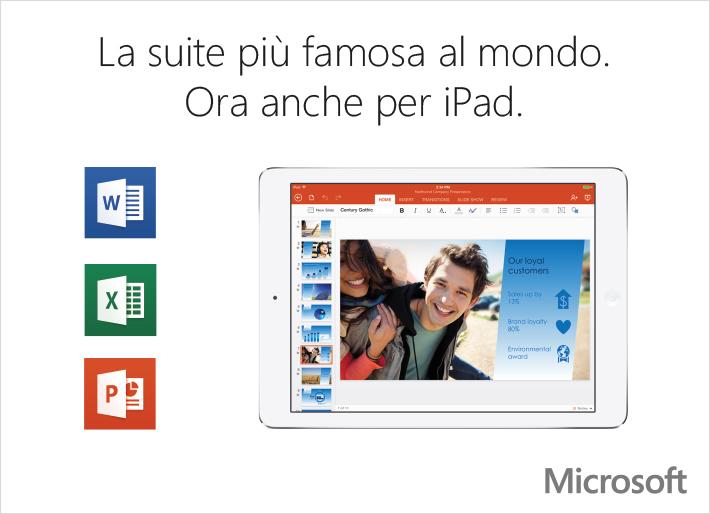 La suite più famosa al mondo ora anche per iPad.