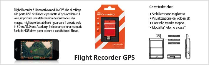 All'interno dell'esclusiva confezione di Parrot AR.Drone GPS Edition, è presente il Drone in versione Elite Edition Sand, il modulo GPS, una batteria ai polimeri di litio da 1000 mAh (che assicura un'autonomia di volo fino a 12 minuti), ed il caricabatteria con adattatori internazionali.